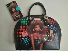 NICOLE LEE USA FRIDAY NIGHT FUN DOME SATCHEL HANDBAG & CELL PHONE CASE WALLET
