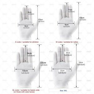 3 Pairs/pack-M/XL/XXL White Soft Cotton Gloves AU Stock Australia Free Delivery