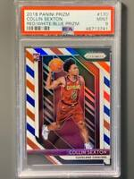 2018 Panini Prizm #170 Collin Sexton Rookie Red White & Blue Prizm PSA 9 Mint