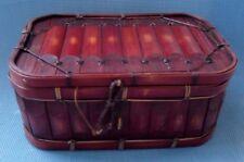 Antique Bamboo Sewing - Storage Basket - Box