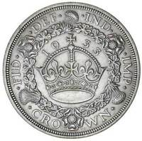 UK Great Britain GEORGE V 4th Issue Silver Wreath Crown 1933  S.4036 NGC AU50