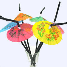 20PCS Novelty Party Decorations Paper Parasol Umbrella Cocktail Drinking Straws