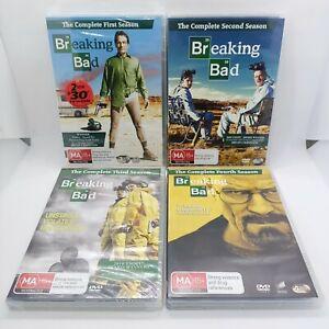 Breaking Bad Seasons 1,2,3,4 DVD Bundle Region 4 Bryan Cranston Free Shipping