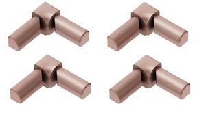 Schluter Rondec Set of 4 Satin Copper Anodized Aluminum Double Leg Inside Corner