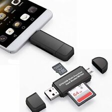 Micro USB OTG to USB 2.0 Adapter SD/Micro SD Card Reader For Smartphones/PC AC