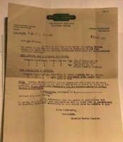 1952 British Rail Marine Department Weymouth Letter Extra Ferry Sailings