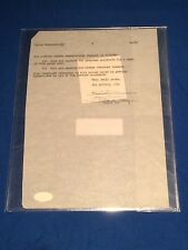 Doris Day Signed Contract / Signature Page PSA/DNA Y47327