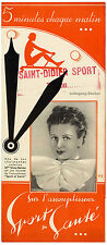 """Werbeflyer für das Rudergerät """"Sport & Santé"""", Frankreich um 1935"""