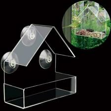 Clear House Window Bird Feeder Birdhouse With Suction Garden Outdoor Feedin E8S2
