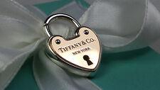 NEW Tiffany & Co. Heart Lock Charm for Bracelet Rose Gold 18k Key 750 Silver 925