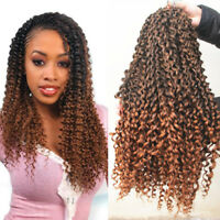 "18"" Ombre Water Wave Twist Braids Synthetic Curls Crochet Braided Hair Extension"