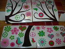 """MEMO BOARD W/ MAGNETS-9"""" X 10""""-MAGNETIC DANGLES-9"""" X 14""""--WALL DECAL--#Y25A"""