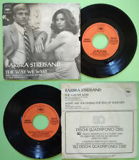 """7""""45 Barbra Streisand The Way We Were/What Are You Doing The Rest Of Your Life?"""