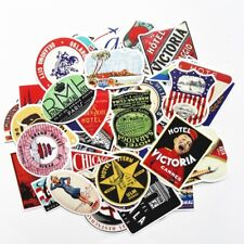 Luggage Suitcase Hotel Travel Stickers Pack Lot, Traveler Vtg Old Look Style