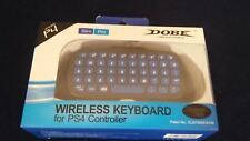 Dobe PS4 Wireless Keyboard for Slim and Pro Controller New 2.4G
