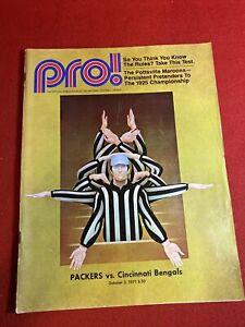 1971 PRO NFL PROGRAM CINCINNATI BENGALS VS GREEN BAY PACKERS Virgil Carter