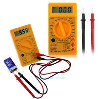 DT-830B AC/DC 750/1000V LCD Digital Multimete Amp Volt Ohm Tester Meter+Probes