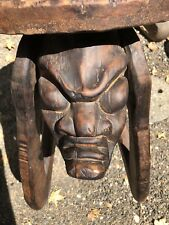 Hand Carved Antique African Art Table