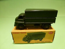 DINKY TOYS  621  BEDFORD 3-TON ARMY WAGON - MILITARY - RARE SELTEN - VG IN BOX