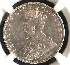 British India KG V 1912(B) Rupee NGC Graded MS 62