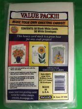 Make Your Own Greeting Cards 50& 50 White Envelopes HALCRAFT ACID FREE 6.5x5