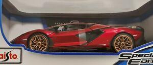 Maisto 1:18 Lamborghini Sian FKP 37 Red Diecast Special Edition