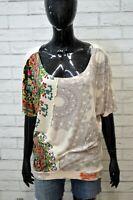 DESIGUAL Donna Maglia Blusa Taglia M Comoda Camicetta Shirt Women's Casual