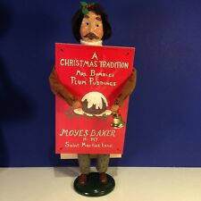 Byers Choice Caroler MAN VENDOR WITH PLUM PUDDINGS SANDWICH BOARD SIGN