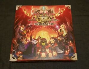 Arcadia Quest Hell of a Box. Box opened but contents unopened and never played