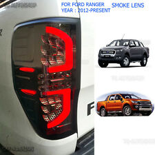LED BLACK SMOKE TAIL LIGHT REAR FOR FORD RANGER T6 Px2 Mk2 WILDTRAK 2012 13 2016