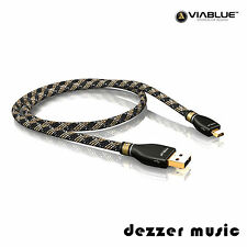 ViaBlue 1m KR-2 Silver USB-Kabel 2.0 / Stecker A/Mini-B / 1,00m…HIGH END