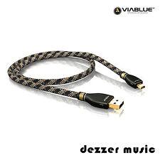 ViaBlue 10m KR-2 Silver USB-Kabel 2.0 / Stecker A/Mini-B / 10,00m…HIGH END