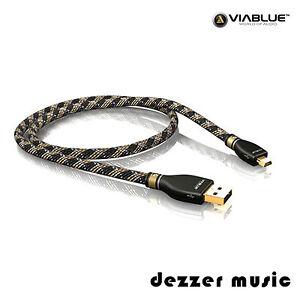 ViaBlue 0,50m KR-2 Silver USB-Kabel 2.0 / Stecker A/Mini-B / 0,5m…HIGH END