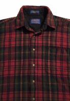 Men's Pure Virgin Wool Pendleton Shirt>>Size M>>Long Sleeve>>Button Down