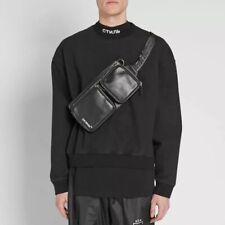 Off White Black Leather Waist Belt Bag Detachable bag Bum Fanny Virgil Abloh