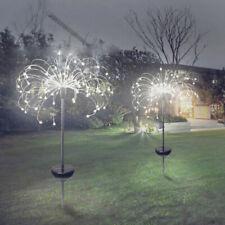 4x Fireworks 150 LED Fairy String Lights Starburst Solar Xmas Garden Night Lamps