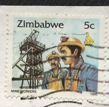 Zimbabwe stamps - Mine Workers   5 Zimbabwean cent 1995