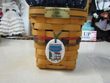 1997 Longaberger Bringing America Home Bee Basket Combo w/Tie-On ~ Excellent!