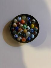 LOT of  Vintage 1950's MULTI COLOR + SWIRL Design GLASS / Mixed / MARBLES 30