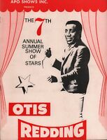 OTIS REDDING 1967 SUMMER TOUR OF STARS TOUR CONCERT PROGRAM BOOK / NMT 2 MINT