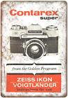 "Contarex Super Zeiss Ikon 35 mm Film Camera 10"" x 7"" reproduction metal sign"