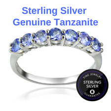 Sz9.5 Genuine Tanzanite 4/5Ct Ring in Solid Sterling Silver (US Seller)