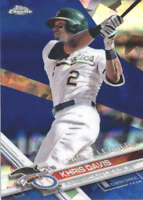 KHRIS DAVIS 2017 TOPPS CHROME SAPPHIRE EDITION #291 ONLY 250 MADE