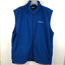 Columbia Men's Blue Cathedral Peak Vest Columbia Navy L