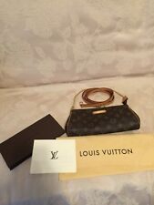 Authentic Louis Vuitton Eva Monogram Crossbody Shoulder Handbag Clutch Wristlet