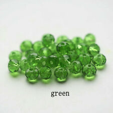 Beads For Earring Bracelet Jewelry Diy100Pcs4Mm Green Round Crystal Glass Spacer