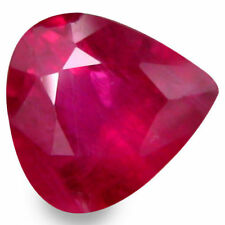 Heating Pear Transparent Loose Natural Rubies