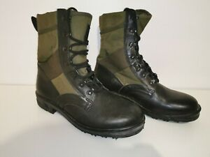 German Army Black Green Genuine Panama Lightweight Jungle Boots Vietnam Style