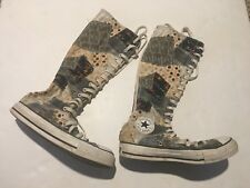 Converse All Star Patchwork Knee High Tall Sneakers boots  Womens sz5