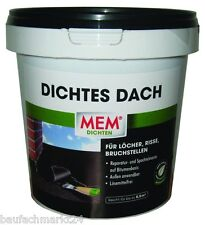 MEM Dichtes Dach 1 kg Reparaturmasse Spachtelmasse Dachabdichtung